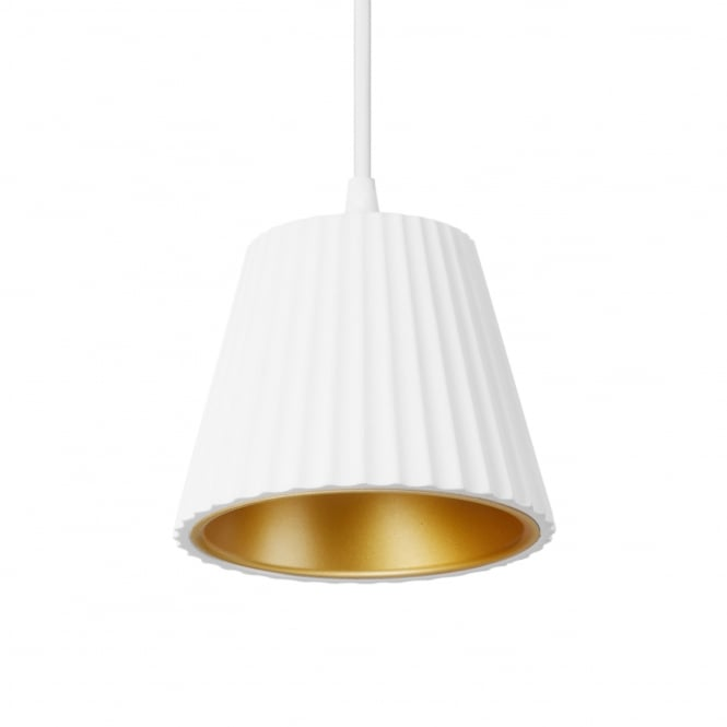 LEDS-C4 Cup LED Plaster Pendant in White and Gold