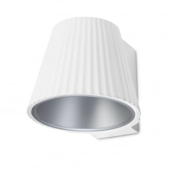 Cup LED Plaster Up or Down Wall Light in White and Grey