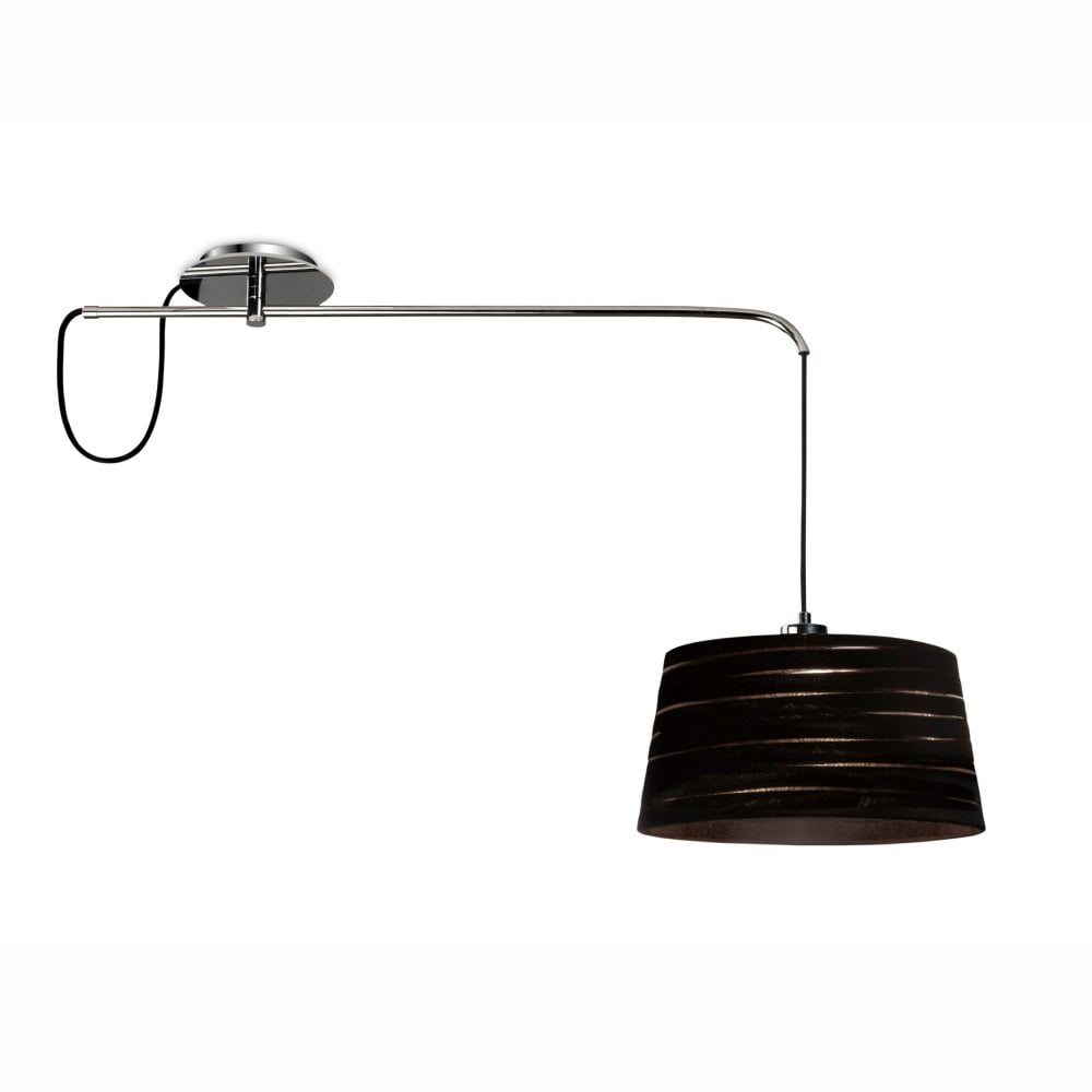 Magma fully adjustable pendant light in chrome