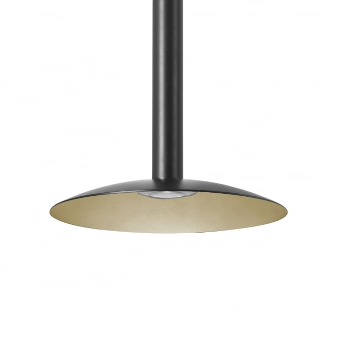 LEDS-C4 Stylus Shade Surface Mounted Pendant LED in Black and Gold