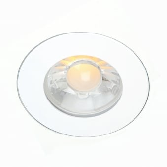 Anti-Glare Flush Mounted GU10 Fixed Round Fire Rated Downlight