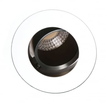 Flush GU10 Adjustable Round Fire Rated Downlight