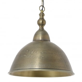 Amelia Pendant in Raw Antique Bronze