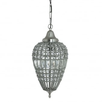 Charlene Pendant in Nickel and Crystal