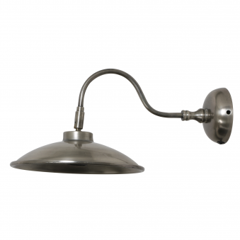 Dublin Wall Lamp in Antique Silver Finish