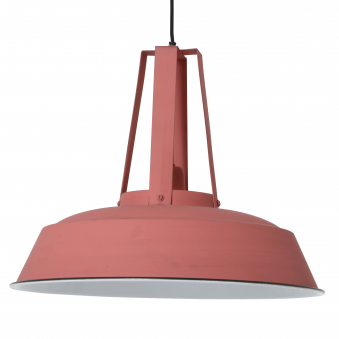 Inez Pendant in Matt Pink and White