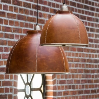Kevin Large Leather Pendant Fitting