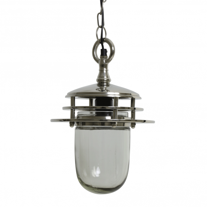 Light & Living Maddy Glass and Nickel Pendant