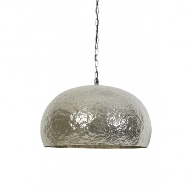 Light & Living Marit Large Pendant with Hammered Nickel Shade