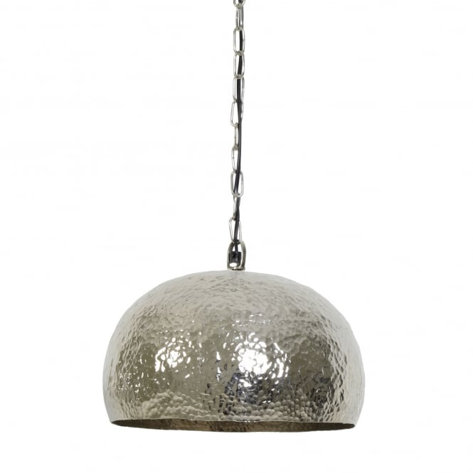 Light & Living Marit Pendant with Hammered Nickel Shade