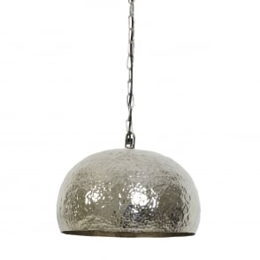 Marit Pendant with Hammered Nickel Shade