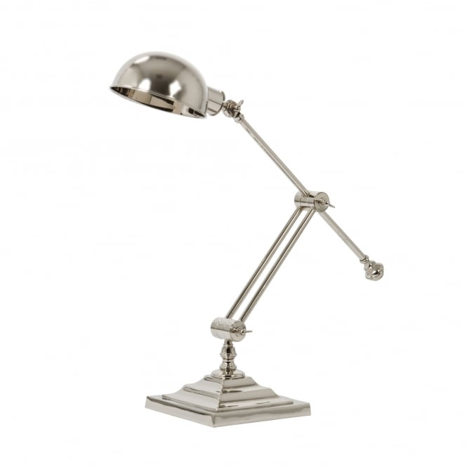 Light & Living Rawley Desk Lamp in Polished Nickel