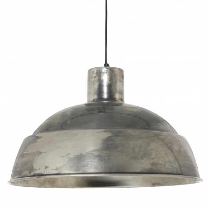 Light & Living Talitha Pendant in an Aged Antique Nickel Finish