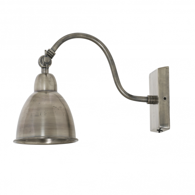 Light & Living Ulster Wall Lamp in Antique Silver Finish