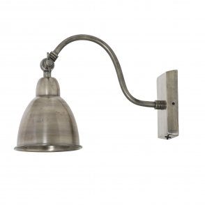 Ulster Wall Lamp in Antique Silver Finish