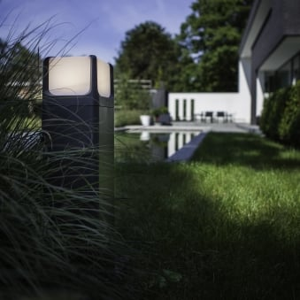 Armor 11W Exterior LED Bollard Light in Graphite and Opal Diffuser
