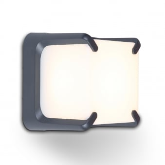 Armor 11W Exterior LED Wall Light in Graphite and Opal Diffuser