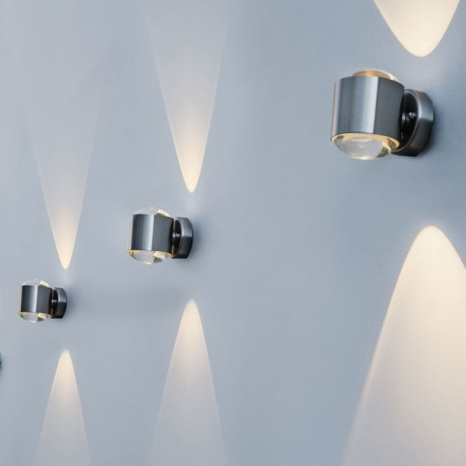 Lutec Crystal 10w Exterior Led Up And Down Wall Light In