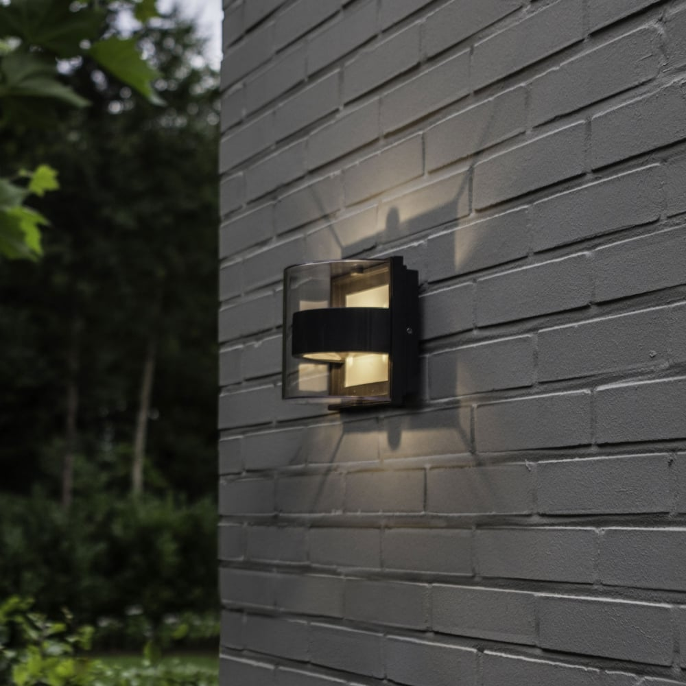 Decorative Exterior Wall Lights : Lutec Delta Decorative 6W Exterior LED Up and Down Wall Light in Graphite - Fitting Type from ...