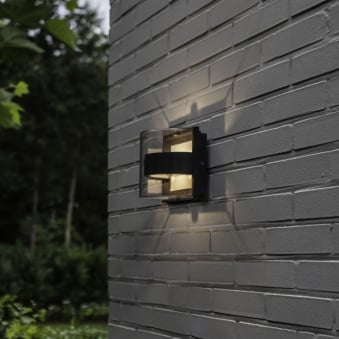 Delta Decorative 6W Exterior LED Up and Down Wall Light in Graphite