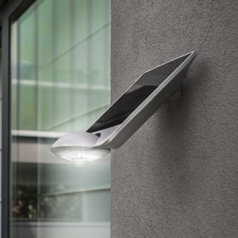 Drop Solar Powered 2.3W LED 240 Lumen Exterior PIR Wall Light