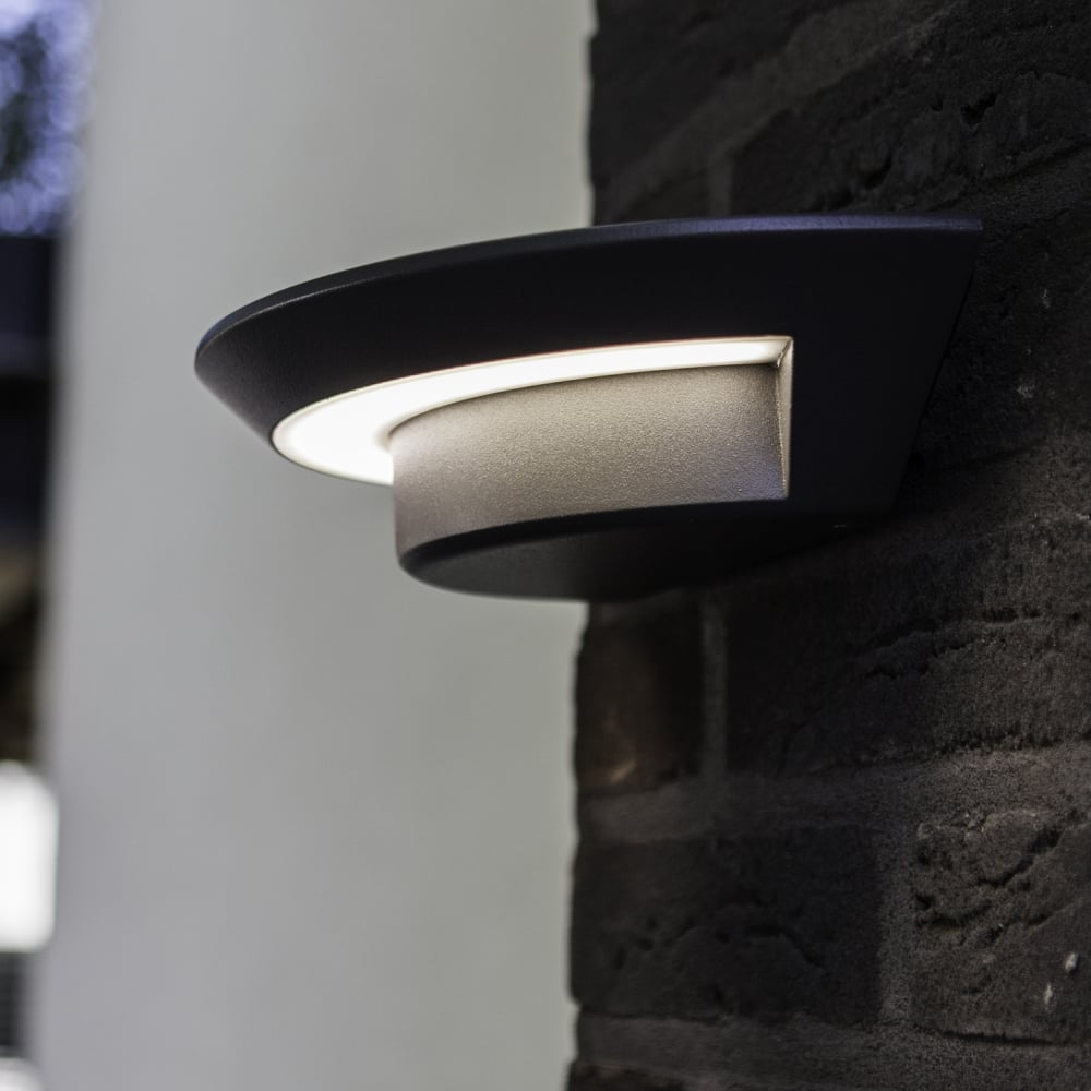 Fitting Outside Wall Lights : Lutec Ghost 7W Exterior LED Wall Light in Graphite - Fitting Type from Dusk Lighting UK