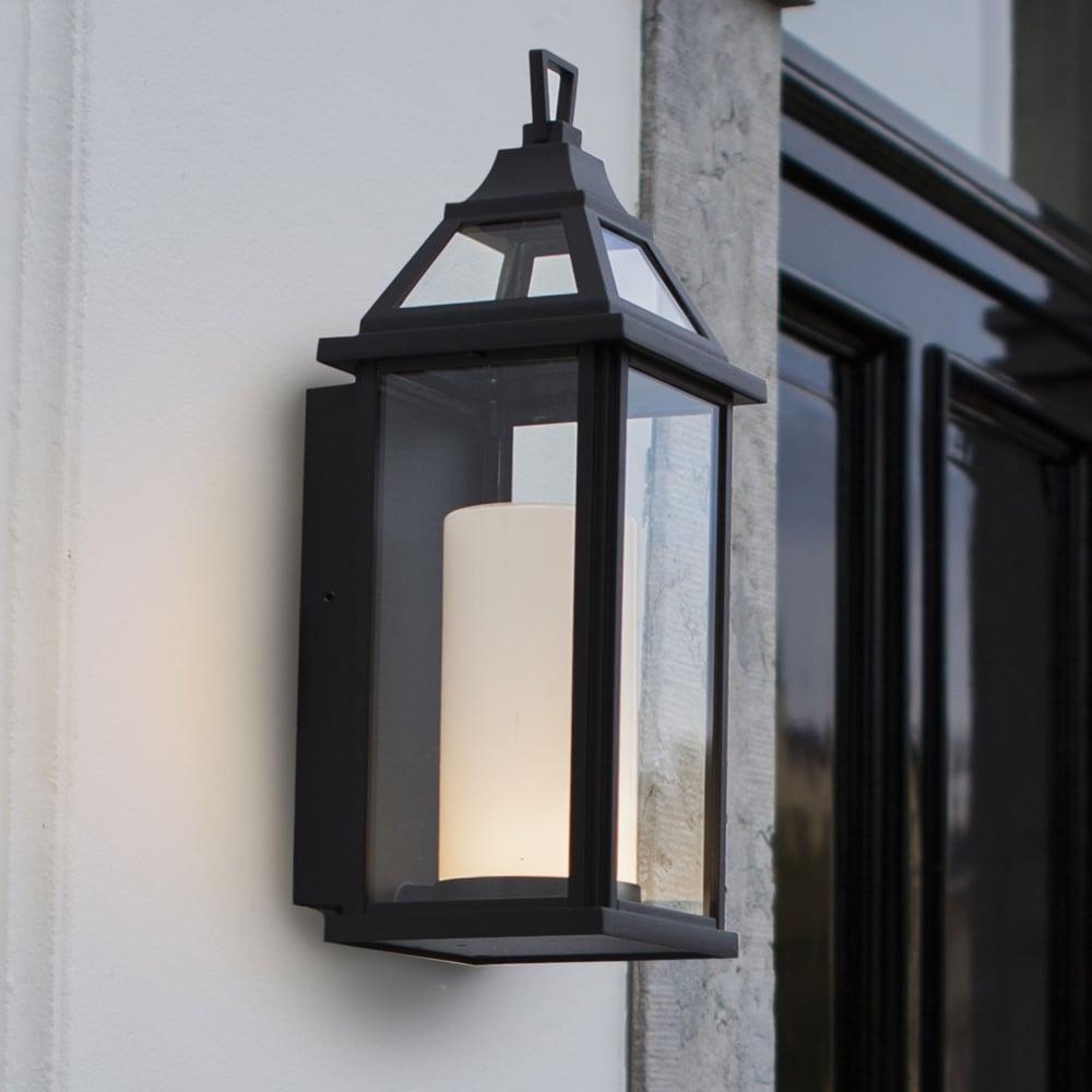 Lutec hom 16w coach lantern exterior led wall light in black hom 16w coach lantern exterior led wall light in black aloadofball Gallery