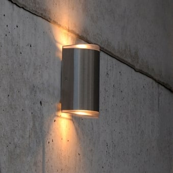 Path 15w Exterior LED Up and Down Wall Light in Stainless Steel