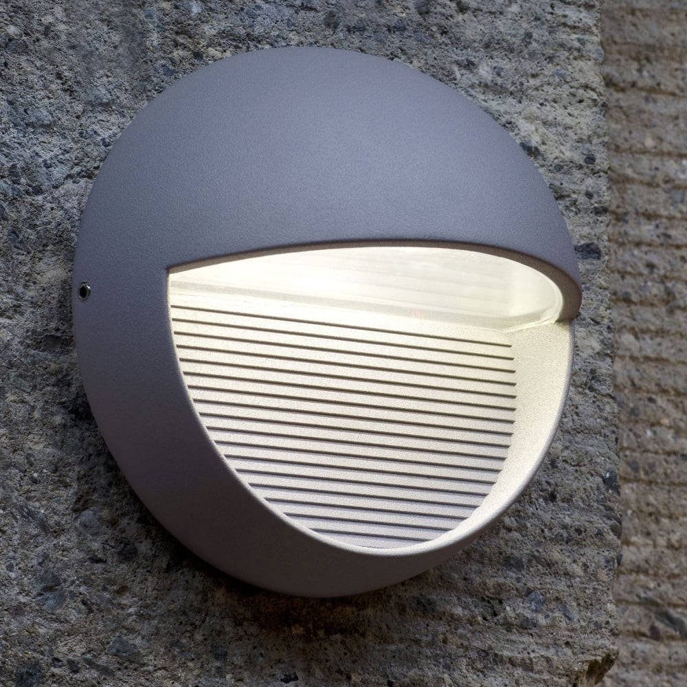 Warehouse Lighting Lux Levels Uk: Lutec Radius Round 9W Exterior LED Low Level Wall Light Or