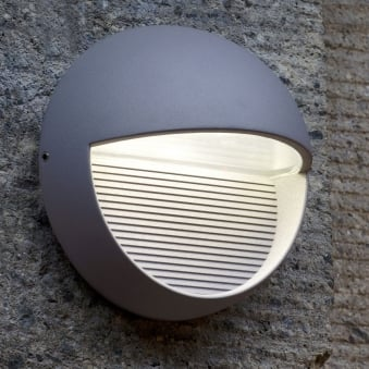Radius Round 9W Exterior LED Low Level Wall Light or Step Light in Graphite