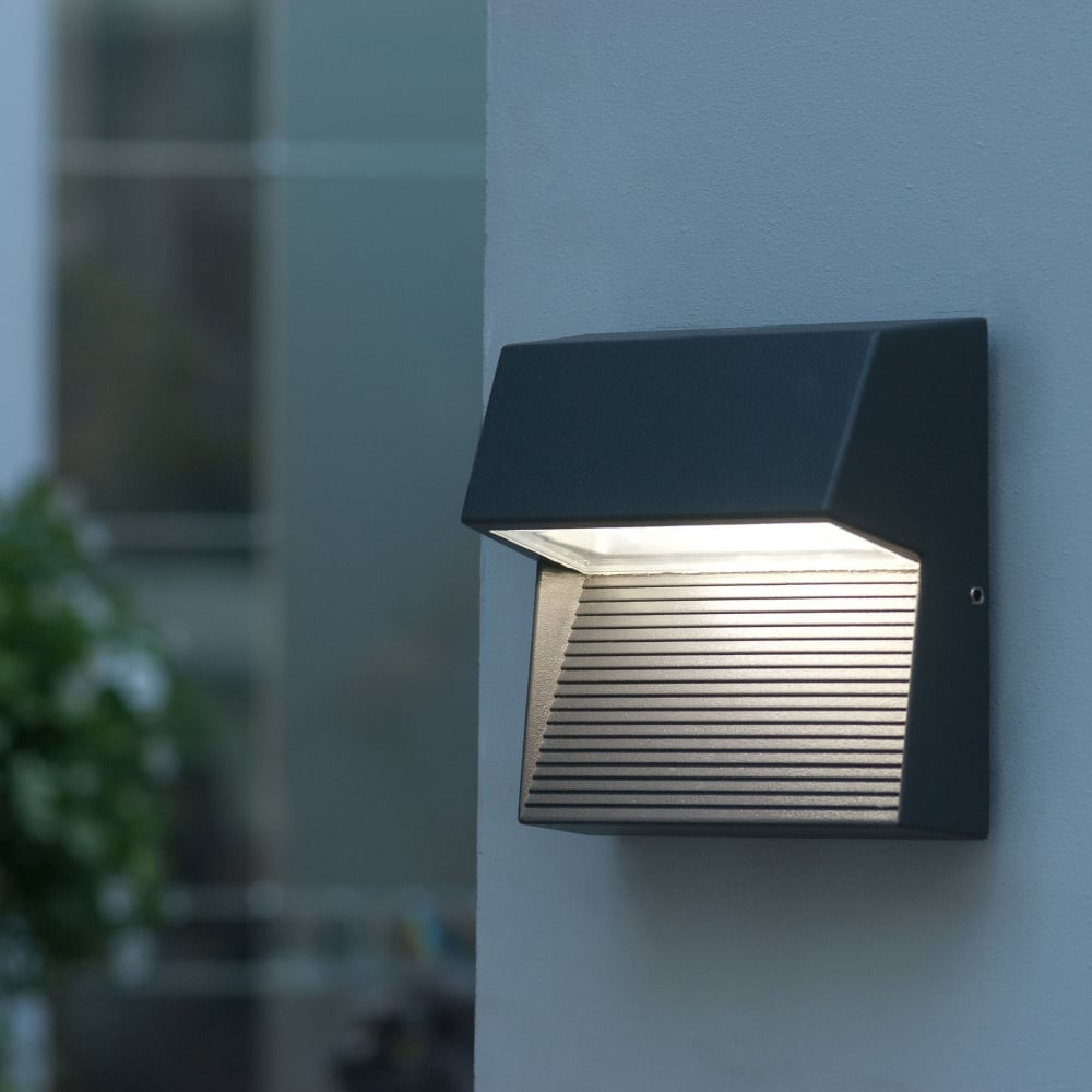 Warehouse Lighting Lux Levels Uk: Lutec Radius Square 9W Exterior LED Low Level Wall Light