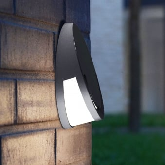 Sandwy 9W Exterior LED Wall Down Light in Graphite