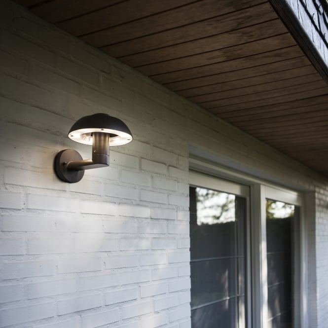 Lutec Spril 8 4w Exterior Led Wall Light In Graphite