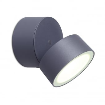 Trumpet 11W Exterior Single LED Wall Light in Graphite