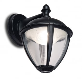 Unite Down 6.5W Lantern Exterior LED Wall Light in Black