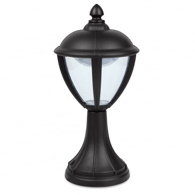 Lutec Unite Pedestal 6 5W Exterior LED Light In Black Fitting Type From Dus