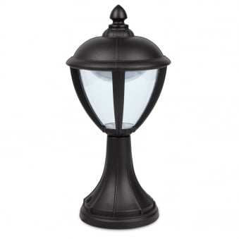 Unite Pedestal 6.5W Exterior LED Light in Black