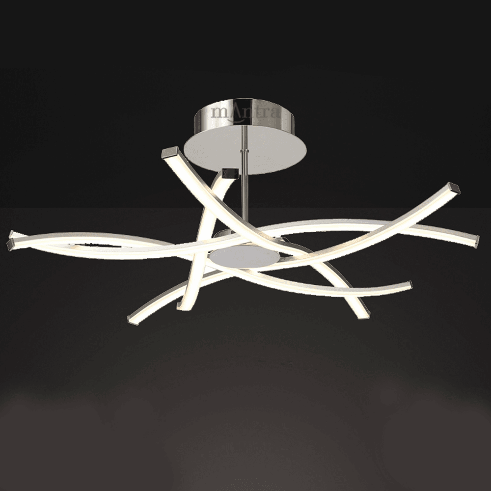 Mantra M5917 Aire Large Led Dimmable Semi Flush Ceiling Light