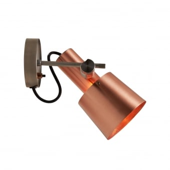 Chester Switched Wall Light in Satin Copper