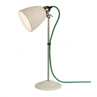 Hector Bibendum Table Light in White with Green Cable