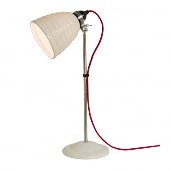 Hector Bibendum Table Light in White with Red Cable