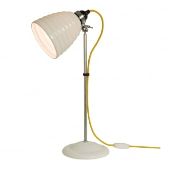 Hector Bibendum Table Light in White with Yellow Cable