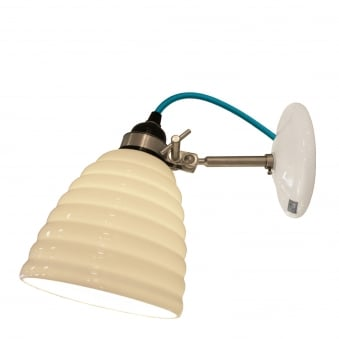 Hector Bibendum Wall Light with Turquoise Cable