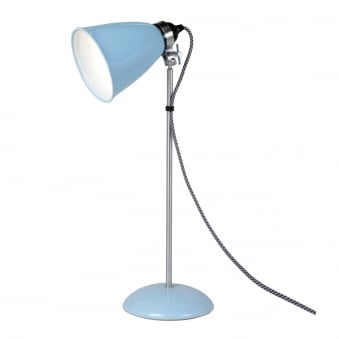 Hector Medium Dome Table Light in Pale Blue
