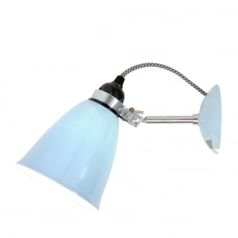 Hector Medium Dome Wall Light in Light Blue Bone China