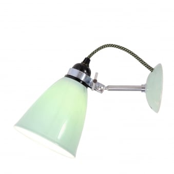 Hector Medium Dome Wall Light in Light Green Bone China