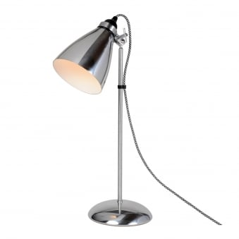 Hector Metal Table Light in Polished Aluminium