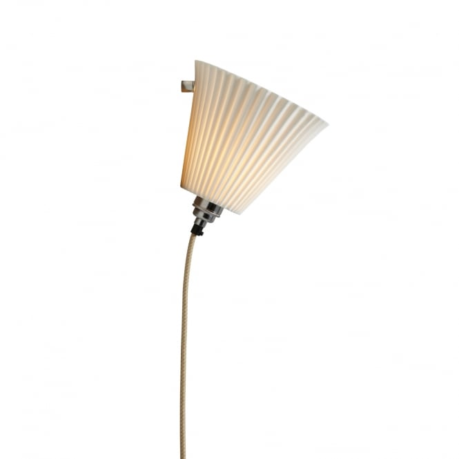 Original BTC Portable Pleat Bone China Large Wall Light