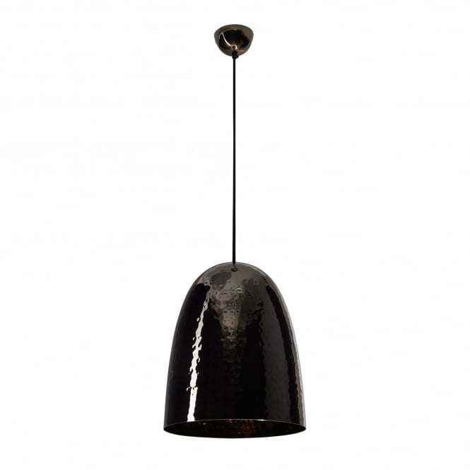 Original BTC Stanley Large Pendant Light in Black Hammered Nickel
