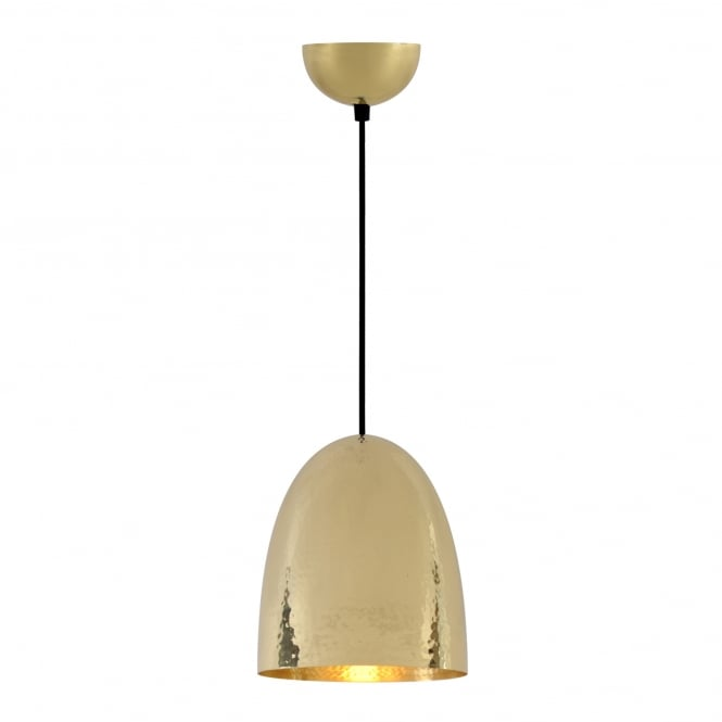 Original BTC Stanley Medium Pendant Light in Hammered Brass